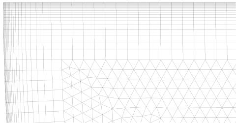 Obr2b: Detail výpočetní sítě v mezních vrstvách